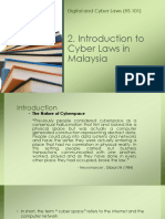Introduction to Cyber Laws in Malaysia