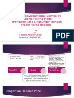 PPT Faridz. Effect of Environmental Service by Hedonic Pricing Model.pptx