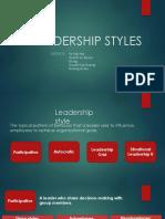 Leadership style MGT