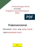 Implikasi Perkembangan Moral Terhadap Pengajaran Dan Pembelajaran