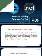 Dot Net DevOps Training & Certification by Experienced Trainer | DevOpsSchool