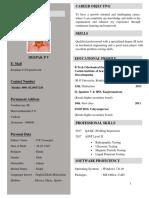 Resume Deepak P V
