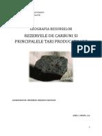 Rezervele de Carbuni si Principalele Tari Producatoare.doc