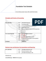 CA Foundation Test Schedule PDF