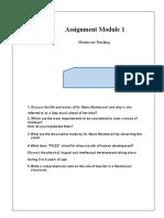 Module One Areeba Qamar