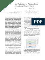 Fault Tolerant Techniques for Wireless Sensor Network- A Comprehensive Survey