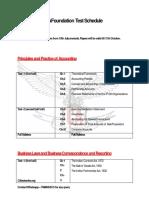 CA Foundation Test Schedule PPT
