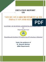 E Recruitment on job seekers