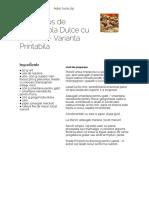 Reteta Sos de Gorgonzola Dulce Cu Ciuperci - Varianta Printabila