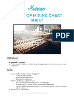 Goals of Mixing Cheat Sheet 1