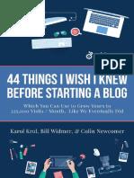 Blogging 44 Things