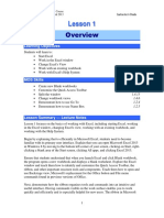 Excel Lesson 1 Plan