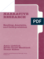 (Applied Social Research Methods) Amia Lieblich, Rivka Tuval-Mashiach, Tamar Zilber - Narrative Research_ Reading, Analysis, and Interpretation-SAGE Publications, Inc (1998)