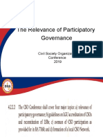 1 - The Relevance of Participatory Governance