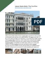 Palazzo Santa Sofia the CA d'Oro