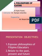 Educational Philosophies of Filipino Educators