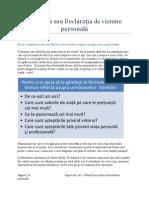 Plan de Dezvoltare Personala(PDP) - Vizunea