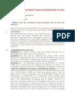 MODELO DE ESCRITO PARA INTERPONER TACHA.docx
