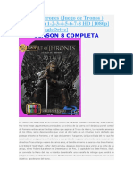 Game of Thrones Googledrive Completa