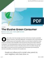 The Elusive Green Consumer