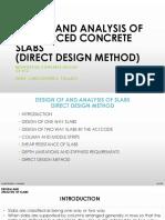Lecture 7 - Reinforced Concrete - Slab (Direct Design)