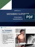 Posiciones Radiologicas Miembro Superior