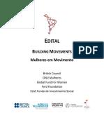 Edital Building Movements - Mulheres Em Movimento