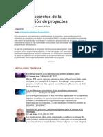 Los Cinco Secretos de La Programación de Proyectos