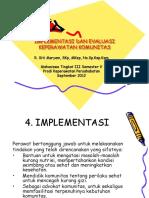 Implementasi Dan Evaluasi Kep Kom Reguler