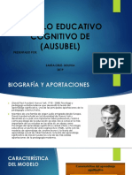 Modelo Educativo Cognitivo de (Ausubel)