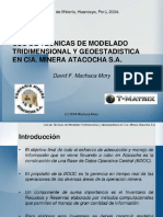 Uso de Tecnicas de Modelado Tridimensional y Geoestadistica en CIA Minera Atacocha Sa 1 638