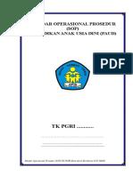 SOP (Standar Operasional Prosedur PAUD KTSP PAUD TK 2019