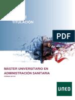Máster Universitario en Administración Sanitaria