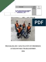 PLAN DE CAPACITACION EN PRIMEROS AUXILIOS.doc