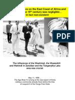 The Influences of the Washirazi and Wahindi
