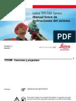 TPS700 Field Manual Es
