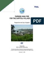 Village Parking Need Analysis
