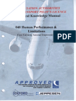 Jaa Atpl Book 8 - Oxford Aviation Jeppesen - Human Performance1