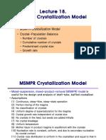 MSMPR Crystallization Model