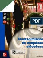 Mantenimiento de Maquinas Eléctricas autor Juan Jiménez