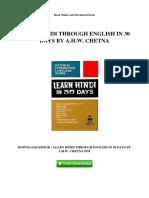 Free PDF Learn Hindi Through English in 30 Days By AHW Chetna ( PDFDrive.com ).pdf