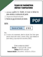 Requisitos Certificado de Parametros
