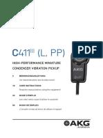 AKG C411 Manual