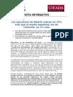 Tendencias Retributivas Equipo Directivo Madrid- Cataluña
