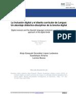 La inclusión digital y el diseño curricular de Lengua