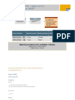 TAW 10 + TAW12 - SAP Net Weaver 2004 -Application Develoment Focus ABAP