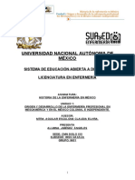 Historia de La Enfermeria en Mexico Unidad 1