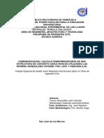 Comparacion Del Calculo Sismorresistente de Una Estructura de Concreto Cinco Niveles Utilizando Las Normas Venezolana Covenin 1756