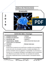 Syllabus de Psicologia 4to Año