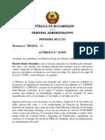 Acódão n.º 31-2017 - Processo n.º 209-2012 - Rosário Simão Sinalinga